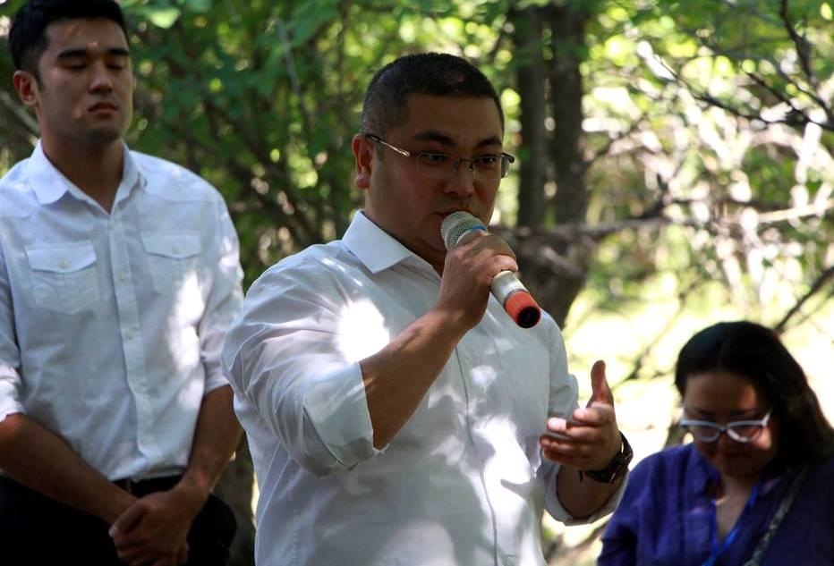 Министр юстиции Кыргызской Республики Уран Ахметов встретился с участниками молодежного образовательного форум-лагеря «Жаш Булак»