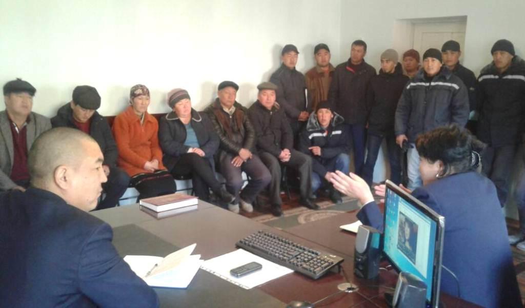 Управлением юстиции Ошской области и города Ош проводится  праворазъяснительная работа для работников государственных учреждений