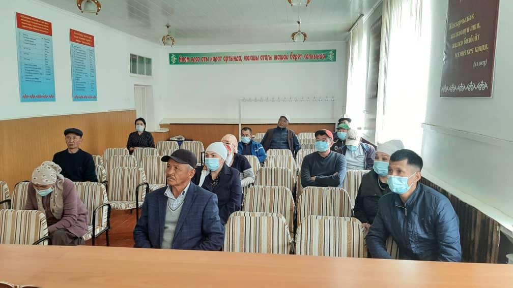 Состоялись встречи по вопросам информирования населения о предстоящих выездах «Автобуса Солидарности» по Ошской области