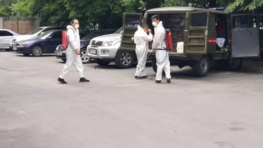 КР Юстиция министрлигинде дезинфекциялык иштер өткөрүлдү