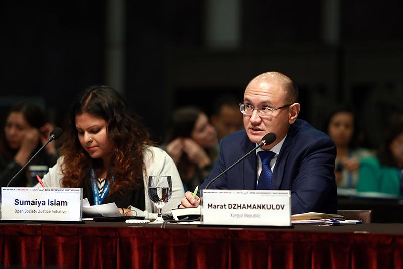Юстиция министри Марат Джаманкулов «Ачык Өкмөт» Өнөктөштүгү (OGP) эл аралык демилгесинин  Азия-Тынч океан аймактык жолугушууда баяндама жасады