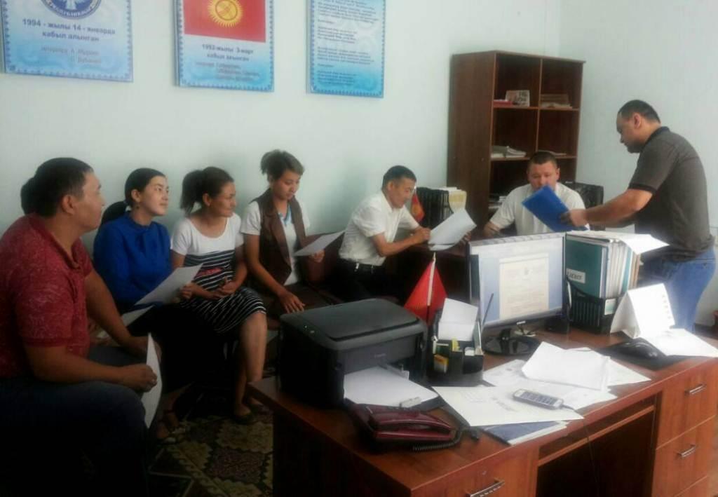 Государственный нотариус города Кочкор-Ата провел встречу с работниками Кочкор-Атинского городского кенеша