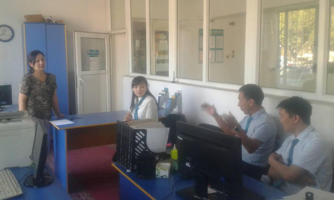 Балыкчы шаарынын мамлекеттик нотариусу Юстиция органдарына калктын ишеним индексин жогорулатуу иштерин өткөрүүдө
