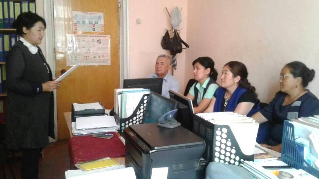 Государственный нотариус Алайского района Ошской области прочитала лекцию для работников Управления социального развития