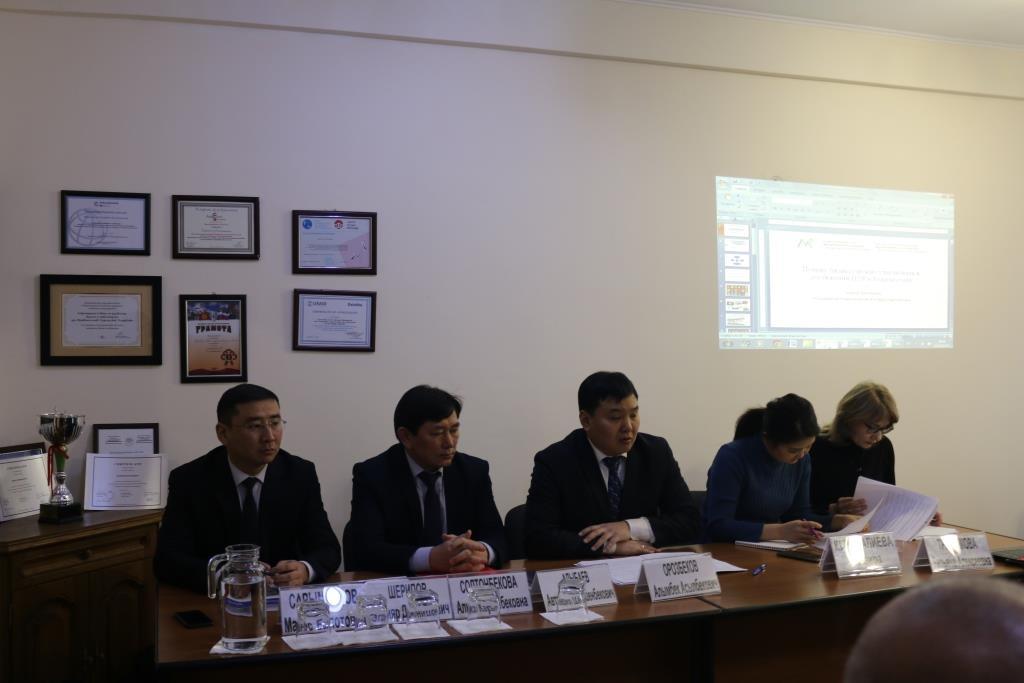 Заместитель министра юстиции Кыргызской Республики М. Сарымсаков выступил с докладом о ходе подготовки проекта Национального добровольного обзора 2020 достижений Целей устойчивого развития