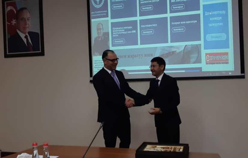Кыргызстандын Юстиция министрлигинин өкулдөрү Азербайжандын кыймылдуу күрөөлүк камсыз кылуунун реестрин жүргүзүү чөйрөсүндөгү иш тажрыйбасы менен таанышты