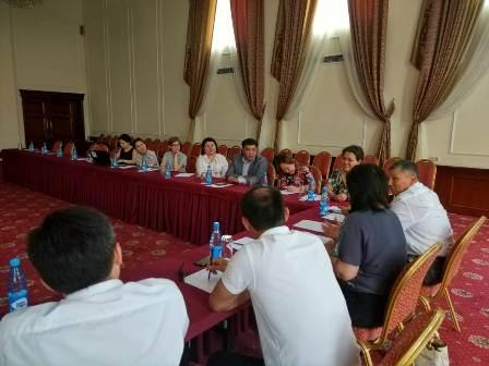 Центр по координации гарантированной государством юридической помощи при Министерстве юстиции Кыргызской Республики проводит обучающий тренинг