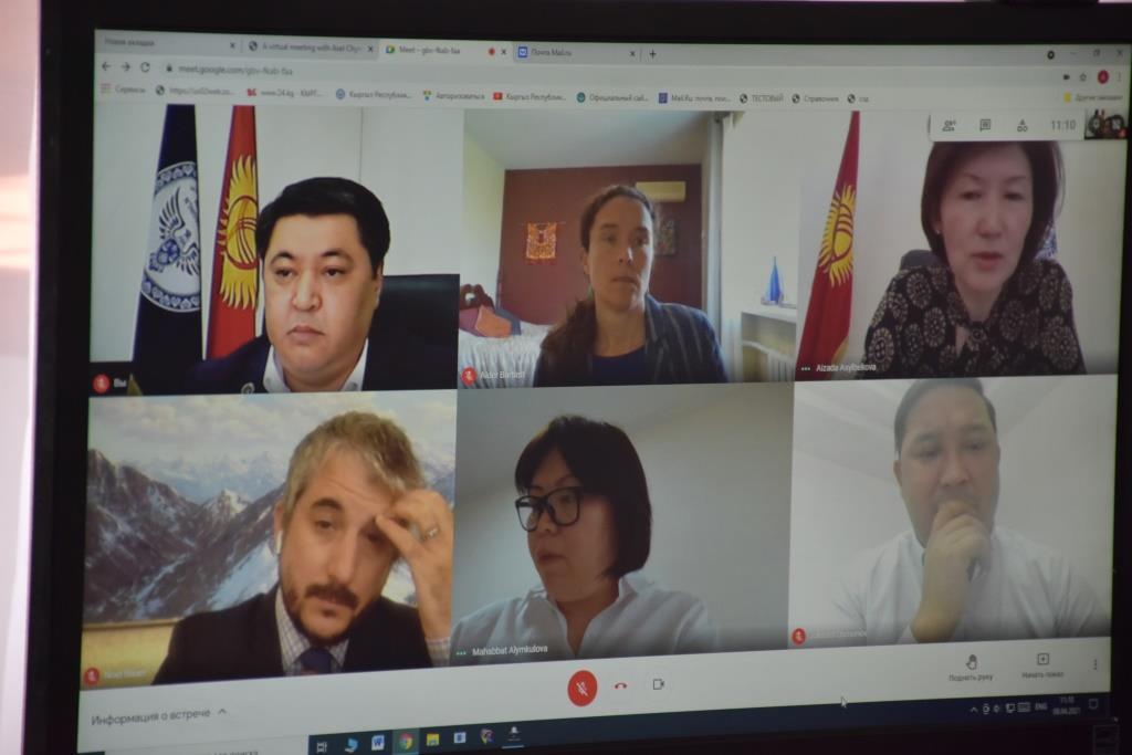 Министр юстиции Асель Чынбаева и исполняющей обязанности директора Миссии USAID в Кыргызской Республике Алдер Бартлетт  обсудили вопросы сотрудничества