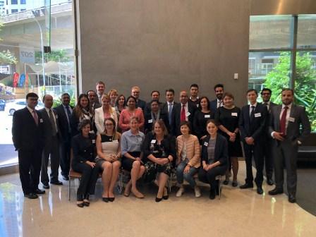 Сотрудники Министерства юстиции принимают участие в семинаре по финансовой инфраструктуре в городе Сидней.