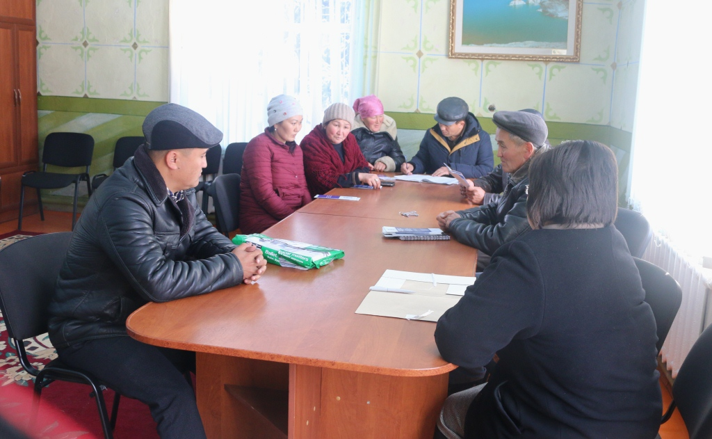 Органы МСУ и местное население Иссык-Кульской области получают  правовую помощь от территориального подразделения юстиции