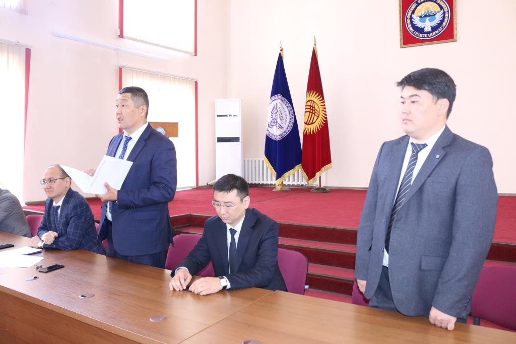 КРнын Юстиция министринин жаңы орун басары Марат Канулькулов министрликтин жамаатына тааныштырылды